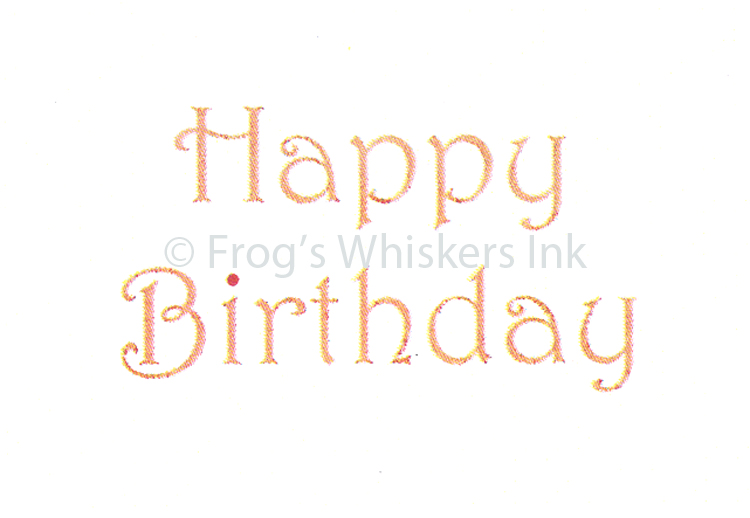 Ecstasy Crafts Frog's Whiskers Stamps - Happy Birthday