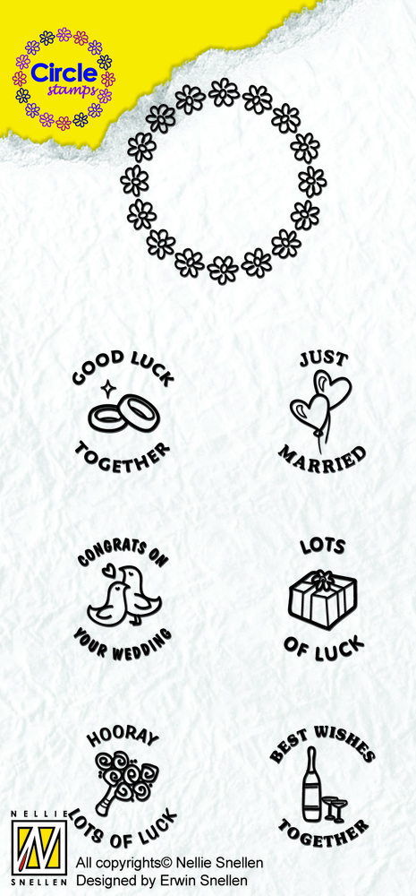 Nellie's Choice Circle Clear Stamp English Text - Marriage