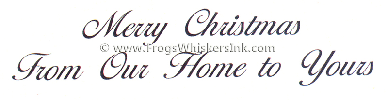 Frog's Whiskers Ink Stamps - Merry Christmas