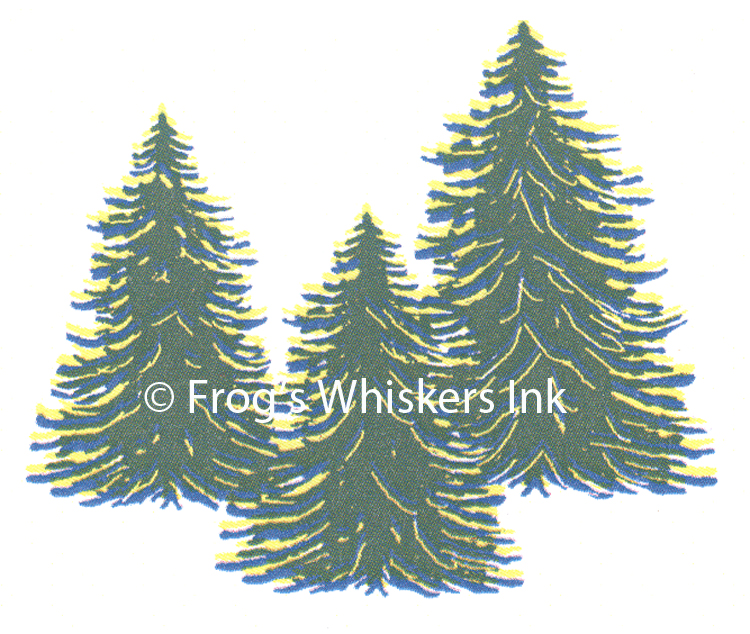 Ecstasy Crafts Frog's Whiskers Stamps - Evergreen Trio