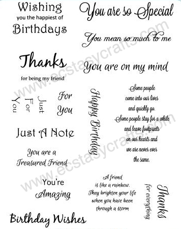 Creative Expressions Creative Expression Sentiment Stamp Set 1