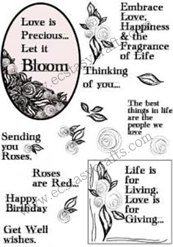 Creative Expressions Creative Expression Stamp - Scribble Rose