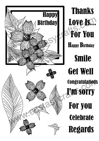 Creative Expressions Clear Stamps - Dogwood Flower Frame Set