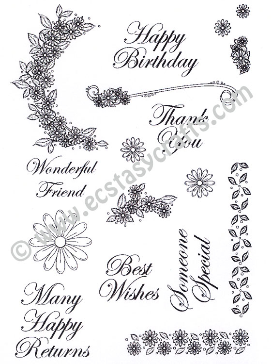 Creative Expressions : Daisy Trail Elements Clear Stamp Set