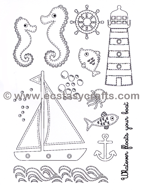 Creative Expressions Stamp - By The Sea
