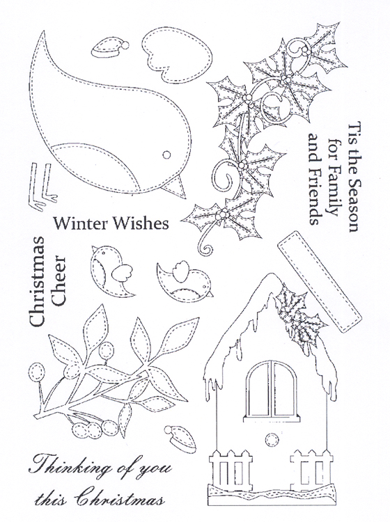 - Clear Stamp Set- Christmas Robins