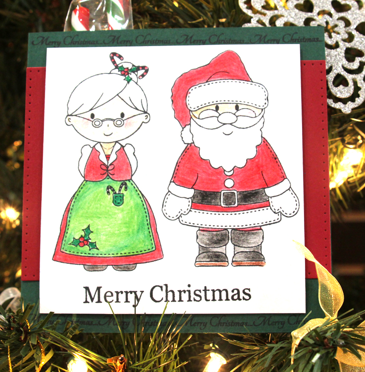 - Clear Stamp Set - Mr And Mrs Claus