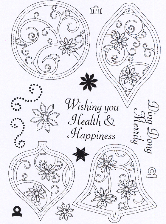 - Clear Stamp Set - Stitched Baubles