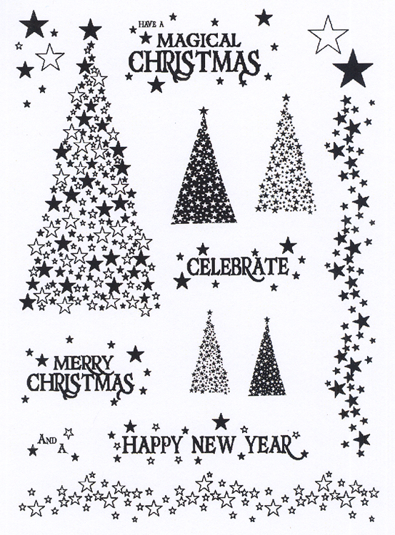 - Clear Stamp Set - Magical Christmas