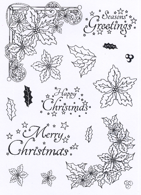 - Clear Stamp Set - Poinsetttia Corner Elements