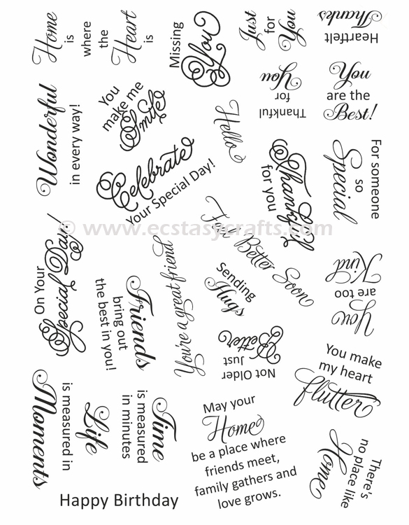 - Clear Stamp Set - Sweet Wishes
