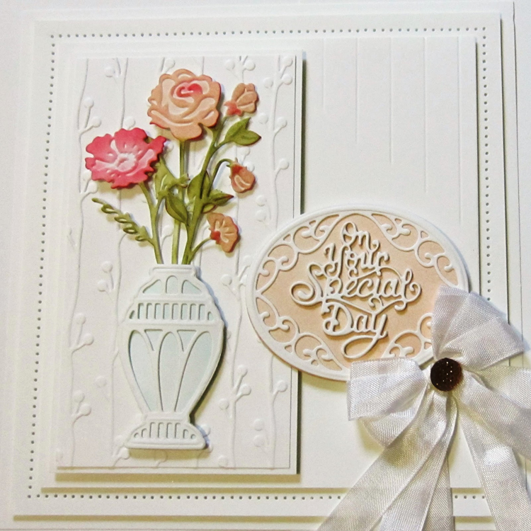 Ecstasy Crafts Sue Wilson Dies - Finishing Touches Collection - Tranquil Poppy