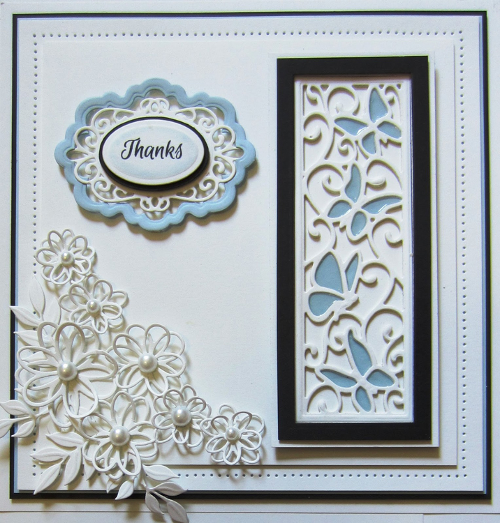 Creative Expressions Sue Wilson Dies - Finishing Touches Collection - Scribble Flowers