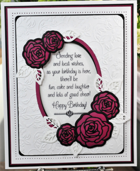 Ecstasy Crafts Finishing Touches Collection Blushing Rose Die