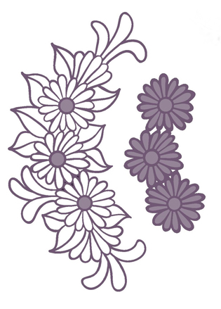 Creative Expressions Finishing Touches Collection Daisy Cluster Die