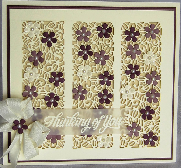 Ecstasy Crafts Striplet Collection Floral Meadow Die