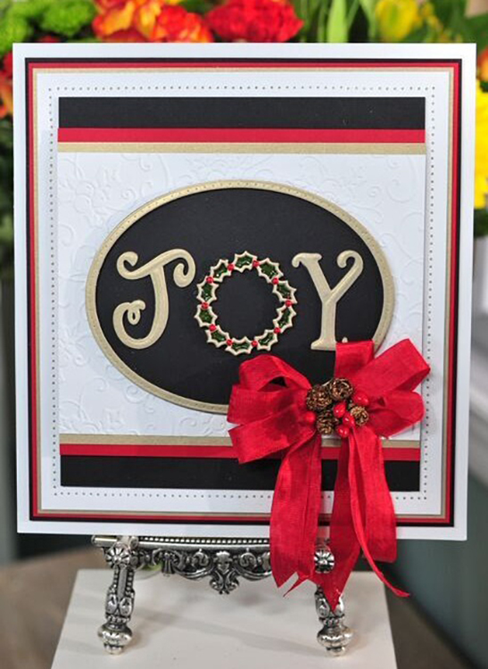 Ecstasy Crafts Sue Wilson Dies - Festive Collection - Christmas Joy Wreath