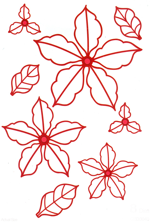 Ecstasy Crafts Sue Wilson Dies - Festive Collection - Classic Poinsettia Open Petals