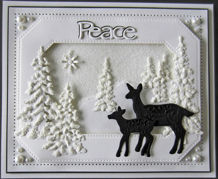 Creative Expressions Festive Collection Deer Family