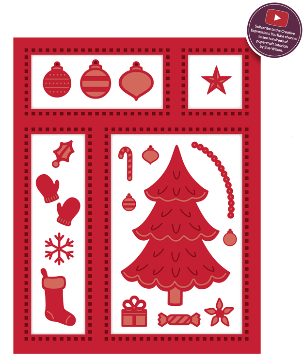 Ecstasy Crafts Festive Collection Christmas Shadow Box