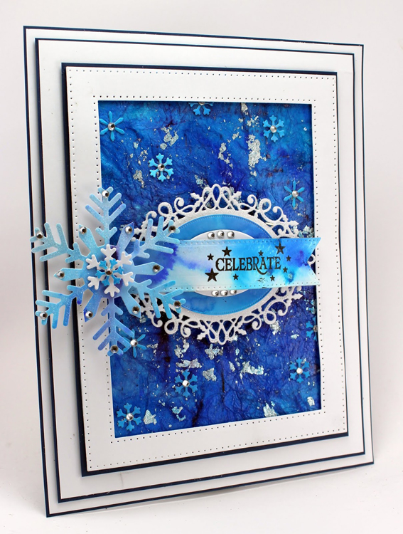 Sue Wilson Dies -Festive Collection - Bold Snowflake Flurry