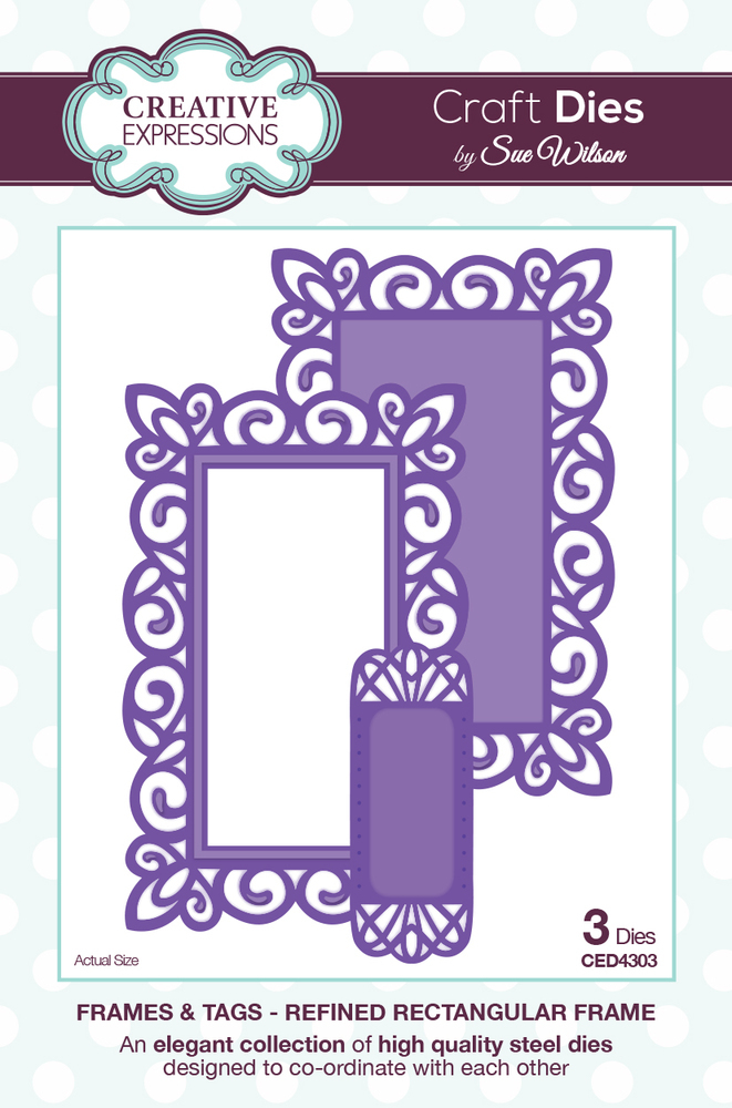 Creative Expressions Sue Wilson Dies - Frames & Tags Collection - Refined Rectangular Frame