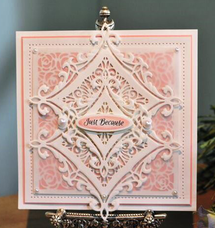 Ecstasy Crafts Frames & Tags Collection Heraldic Square