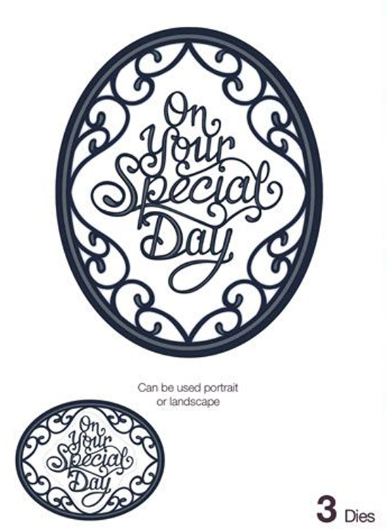 Ecstasy Crafts Expressions Ornate Oval - Special Day
