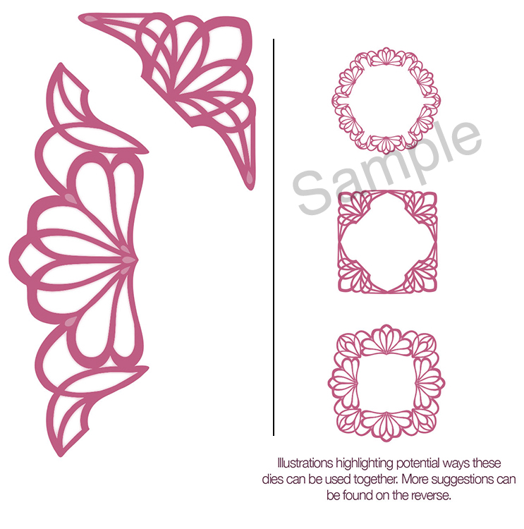 Ecstasy Crafts Sue Wilson Dies - Configurations Collection - Dainty Lace Edger