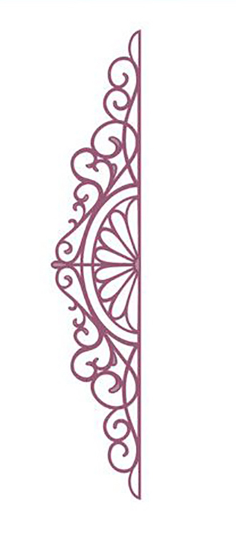 Ecstasy Crafts Configurations Charming Lace Trim Die