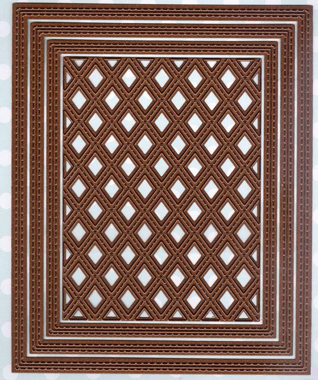 Ecstasy Crafts Shadow Boxes Collection Stitched Lattice Frames