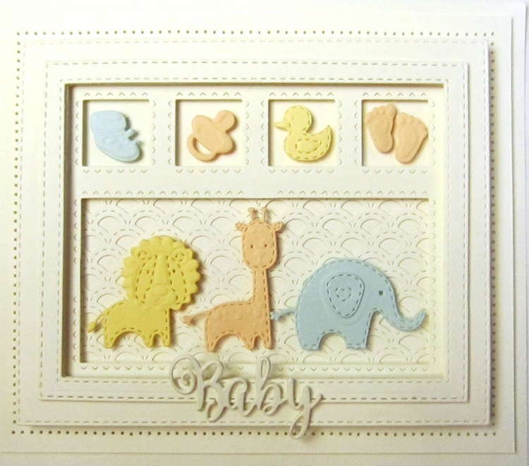 Ecstasy Crafts Shadow Boxes Collection Scalloped Lattice Frames - Set B