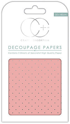 Creative Expressions Pink/silver Decoupage Papers