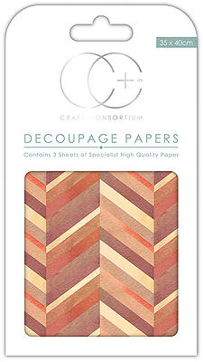 Creative Expressions Chevron Burnt Decoupage Papers