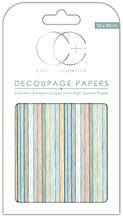 Ecstasy Crafts Drift Wood Blue Decoupage Papers