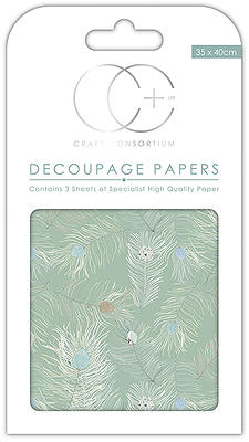 Peacock Turquoise Decoupage Papers