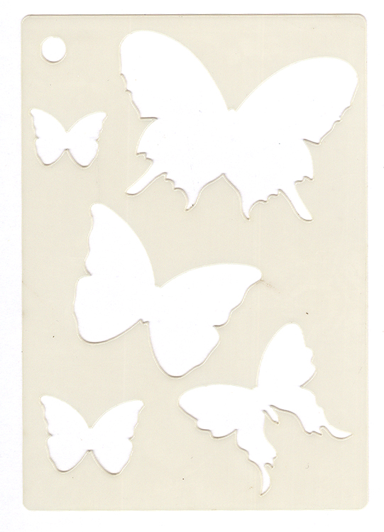 Mini Stencil -Butterfly Splash