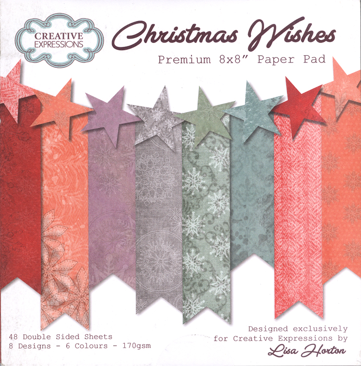 Creative Expressions Christmas Wishes Premium Paper Pad 8 X 8