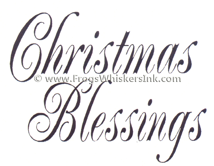 Ecstasy Crafts Frog's Whiskers Ink Stamps - Christmas Blessings