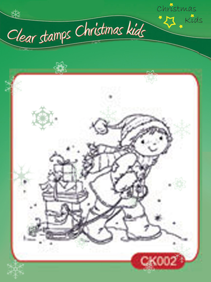Nellie's Choice Clear Stamps - Christmas Kids - Presents