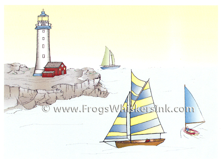 Ecstasy Crafts Frog's Whiskers Ink Stamps - Summer Sailing