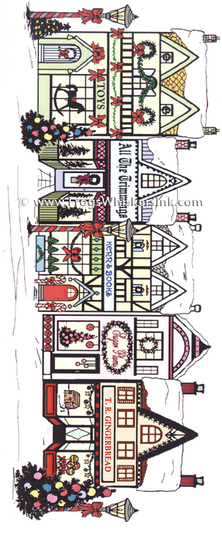 Frog's Whiskers Ink Stamps - Christmas Village