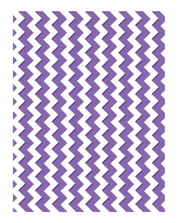 Ecstasy Crafts Embossing Folders - Zig Zag Chevrons - The Harmony Collection
