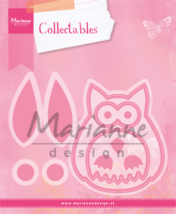 Ecstasy Crafts Marianne Design: Collectables Die Set - Owl 12Pc