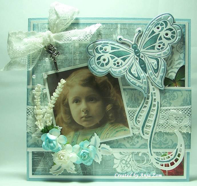 Ecstasy Crafts Marianne Design: Collectables Die & Stamp Set - Tiny's Butterfly 2