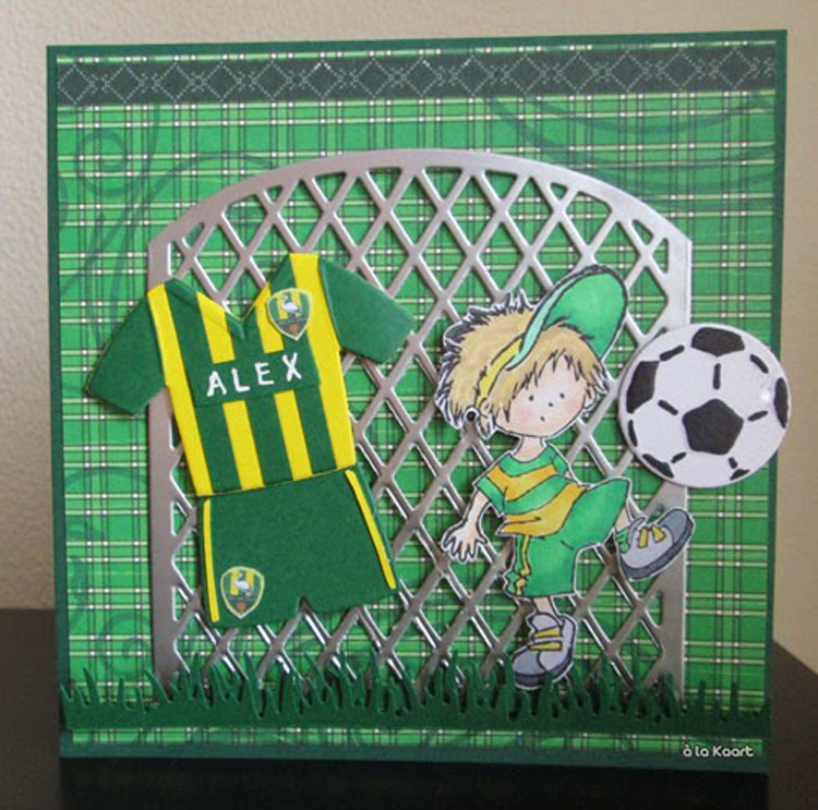 Ecstasy Crafts Marianne Design: Collectables Dies & Stamp Set - Football