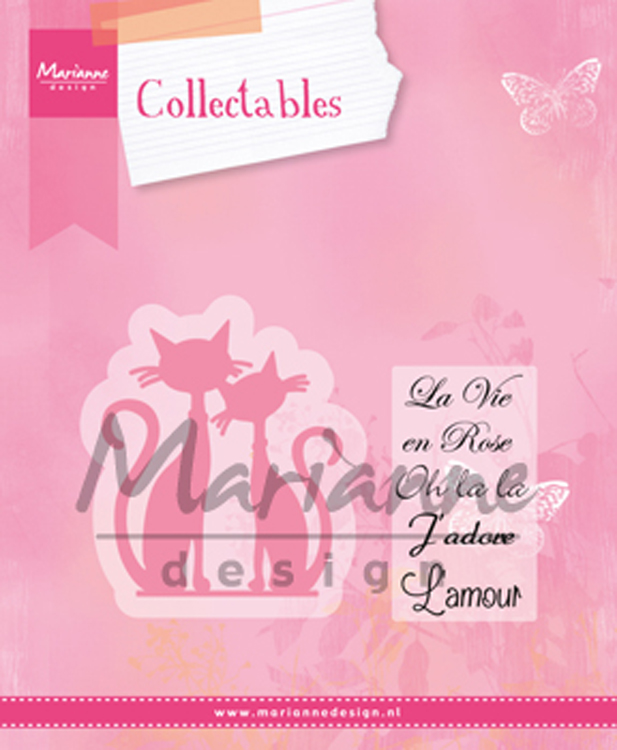 Ecstasy Crafts Marianne Design: Collectables Dies & Stamp Set - A Pair Of French Cats
