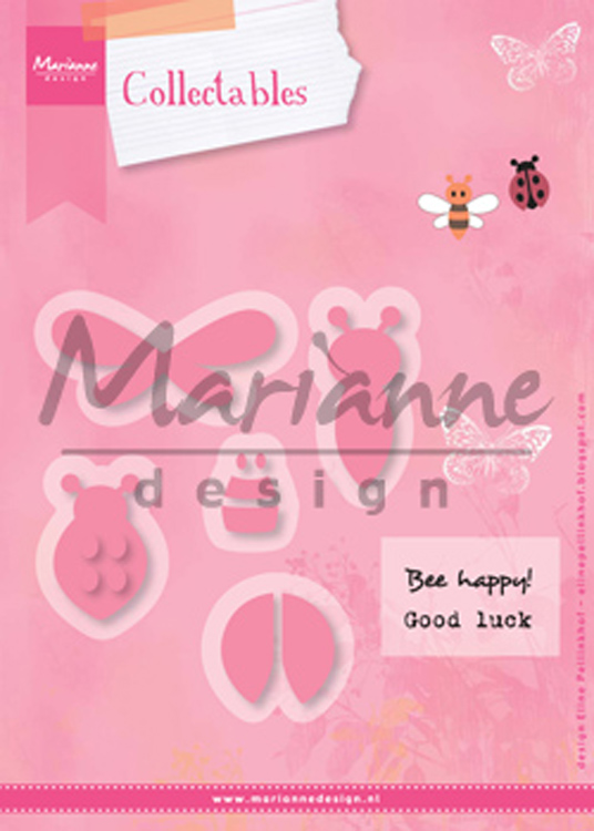 Ecstasy Crafts Marianne Design: Collectables Die Set - Bee & Lady Bug