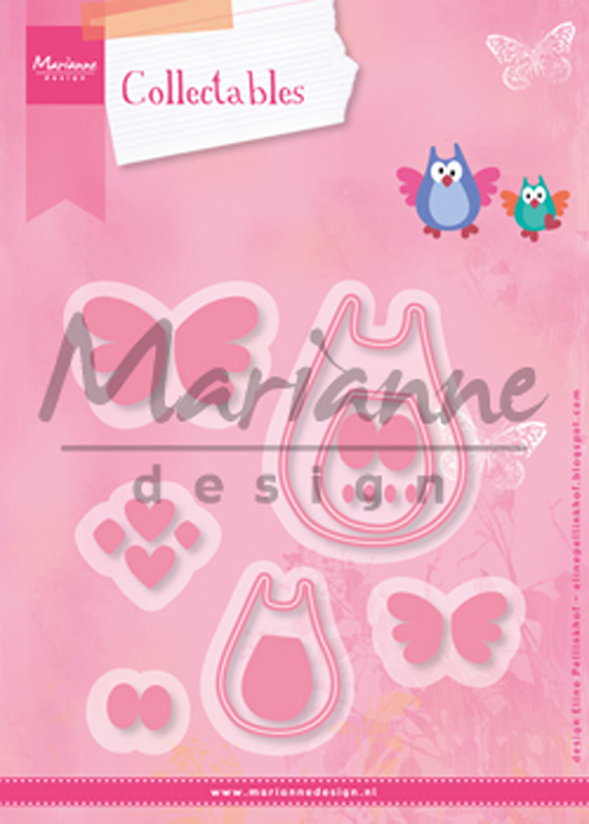 Ecstasy Crafts Marianne Design: Collectables Die Set - Family Owl