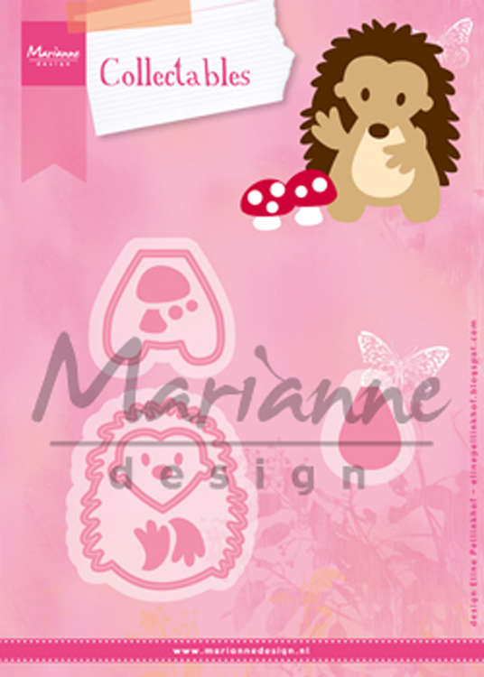 Ecstasy Crafts Marianne Design: Collectables Die Set - Eline's Hedgehog